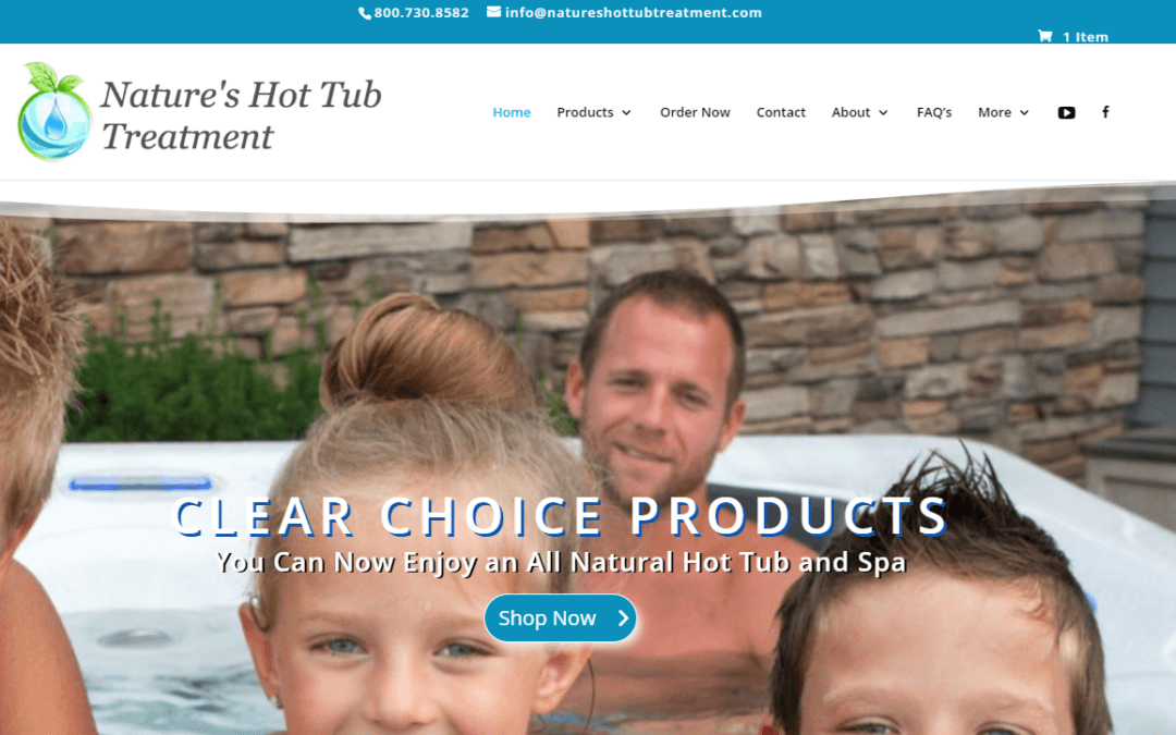 natural hot tub treatment